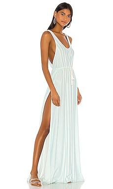 X REVOLVE Leslie Maxi Dress Agua Bendita $180 NEW ARRIVAL