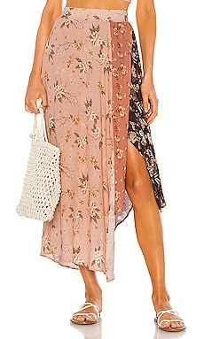 Kaylee Maxi Skirt Agua Bendita $150