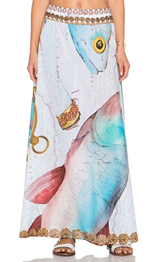 Agua Bendita Sailor Boat Bendito Compas Skirt in Multi