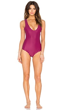 Agua Bendita Marea Reversible One Piece & Turquoise in Burgundy