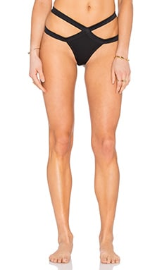 Agua Bendita Noir Bikini Bottom in Black