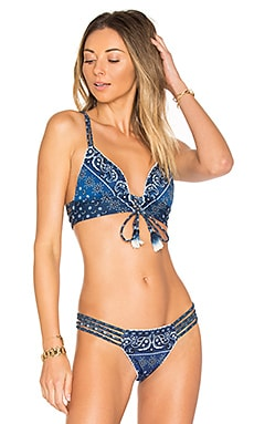 HAUT DE MAILLOT DE BAIN CROPPED BLACKBERRIES