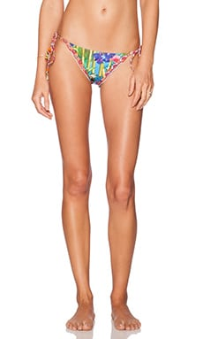 Agua Bendita Tropical Destiny Bedito Bamboo Bikini Bottom in Multi