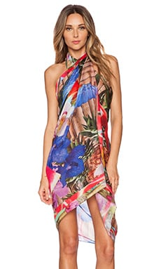 Agua Bendita Tropical Destiny Bandito Bamboo Cover Up in Multi
