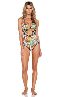 Agua Bendita Pineapple Delight Bendito Pina Colada Swimsuit in Multi