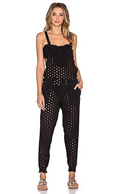 Agua Bendita Essentials Bendito Laurel Overall in Black