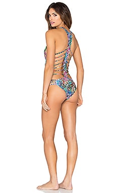 Agua Bendita Exotic Animals Bendito Ilusion One Piece in Multi