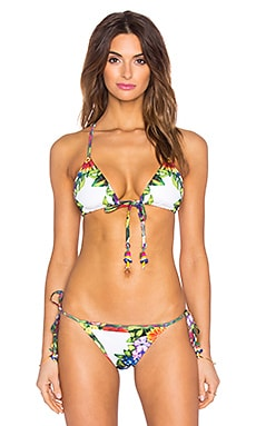 Mystic Garden Bendito Nectar Bikini Top in Multi