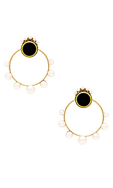 Burlesque Big Removable Pearl Hoop Earring