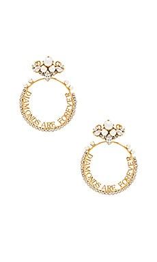 Фото - Серьги diamonds are forever - Anton Heunis цвет металлический золотой
