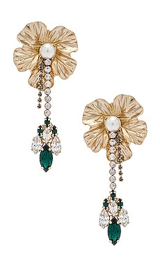 PENDIENTES DANGLY FLOWER WITH PENDANT Anton Heunis $161
