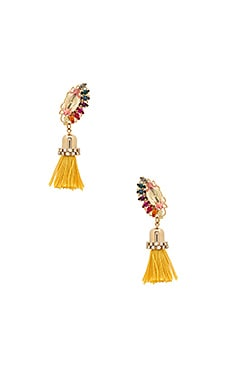 Crystal Cluster Drop Tassel Earring