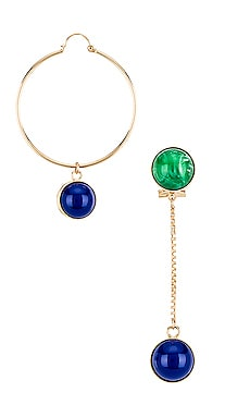 Asymmetric Long Sphere Earring & Hoop Anton Heunis $63