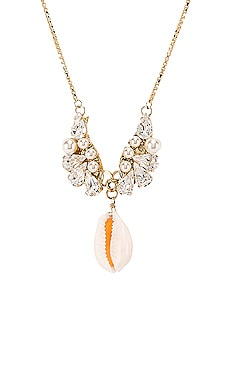 Crystal Cluster Shell Pendant Necklace Anton Heunis $47 (FINAL SALE)