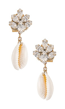 Cluster Shell Earrings Anton Heunis $112