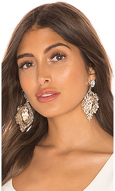 Large Cluster Shell Earrings Anton Heunis $91