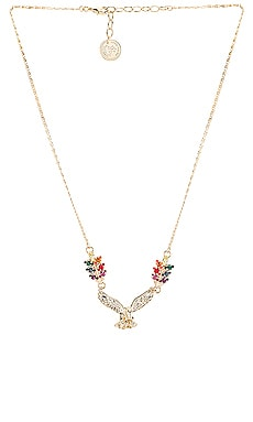 Small Eagle & Tiny Leafs Necklace Anton Heunis $82