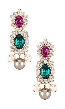 Crystal Cluster & Pearl Pendant Earring Anton Heunis $288