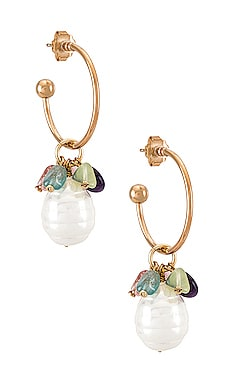 Pearl and Quartz Hoop Anton Heunis $54