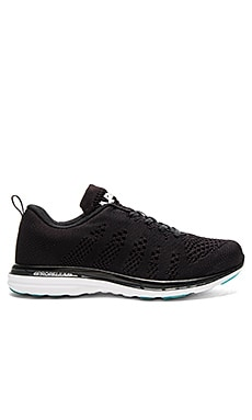 Athletic Propulsion Labs: APL Techloom Pro Sneakers in Black & Charcoal