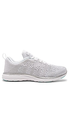 Athletic Propulsion Labs: APL TechLoom Pro Sneaker in White & Silver