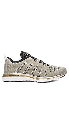 Athletic Propulsion Labs: APL TechLoom Pro Sneaker in Silver, Gold & Black