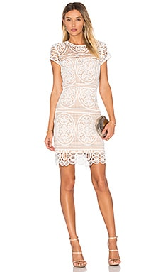 Blackjack Embroidered Mini Dress