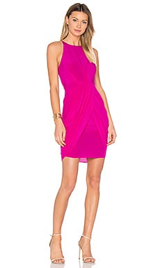 Eunice Pleated Tulip Dress en Fucsia
