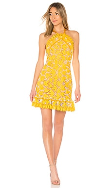 Marianna Halter Dress in Yellow