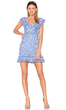 Marianna Ruffled Dress in Cornflower Blue