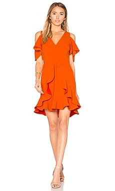 Nicola Cold Shoulder Dress in Orange