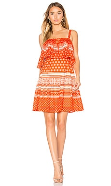Pias Mini Dress in Orange