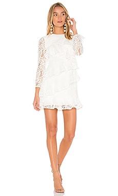 Mae Ruffled Lace Dress