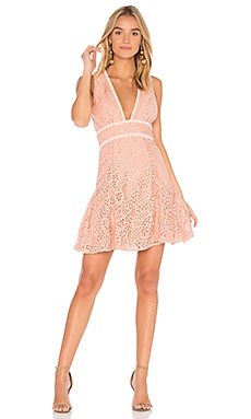 Mae Plunge Lace Dress aijek $81