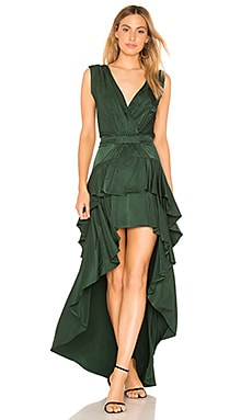 Madelyn Drape Maxi Dress aijek $379