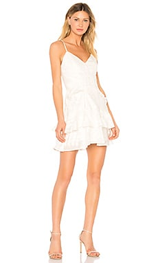 Natalia Ruffled Mini Dress aijek $299 BEST SELLER