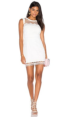 aijek Caroline Embroidered Mini Dress in White