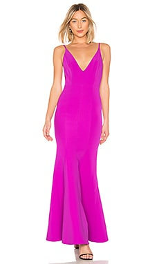 Camille Bonded Scoop Back Gown aijek $136