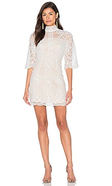 aijek Tatiana Embroidered Mini Dress in White