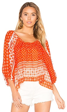 Pias Top in Orange
