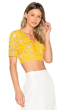 Marianna Cropped Top in Yellow