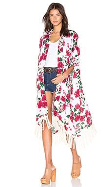 Vagabond Kimono en Vintage Hibiscus