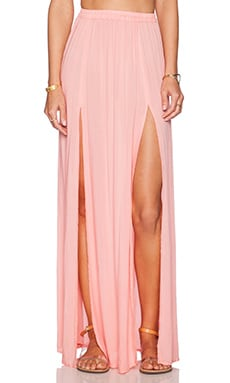 Aila Blue Pupukea Maxi Skirt in Coral