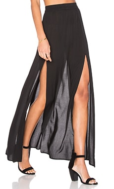 Pupukea Maxi Skirt in Schwarz