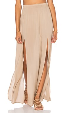 Aila Blue Pupukea Maxi Skirt in Mocha