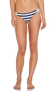 Aila Blue Jardin Cheeky Bikini Bottom in Navy Stripe