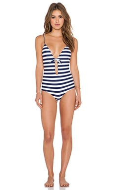 Aila Blue Midnight in Paris Swimsuit in Stripe