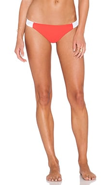 Waterfall Cheeky Bikini Bottom en Corail