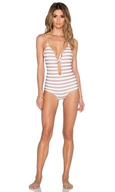 Aila Blue Midnight in Paris Swimsuit in Sandy Stripe
