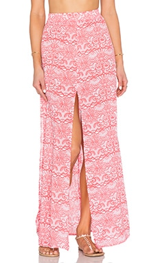 Aila Blue Pupukea Maxi Skirt in Lacey